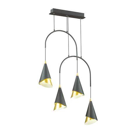 Подвесной светодиодный светильник Odeon Light L-Vision Etna 4116/28L, LED 28W 4000K 895lm, черный, металл