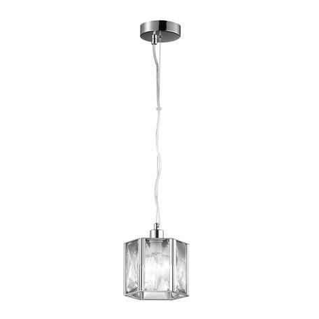 Подвесной светильник Odeon Light Brittani 4119/1, 1xE14x40W, хром, прозрачный, металл, хрусталь