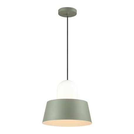 Подвесной светильник Odeon Light Alur 4142/1, 1xE27x60W, зеленый, белый, металл, стекло