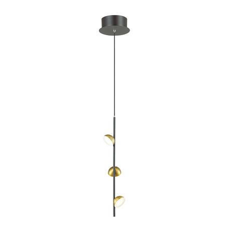 Подвесной светодиодный светильник Odeon Light Verica 4156/9L 3000K (теплый), черный, бронза, металл, пластик