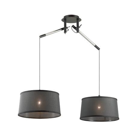 Подвесной светильник Odeon Light Loka 4159/2, 2xE27x15W, черный, металл, текстиль