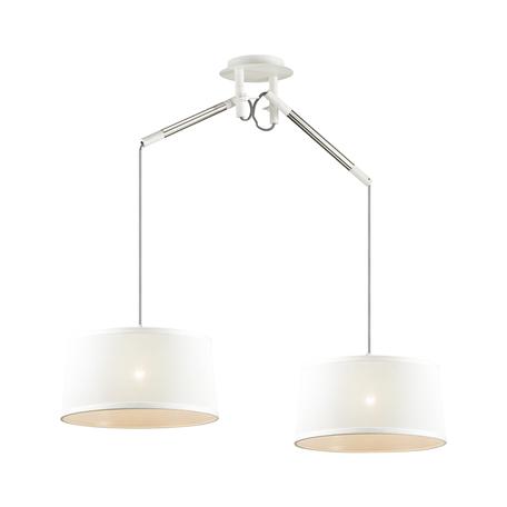 Подвесной светильник Odeon Light Loka 4160/2, 2xE27x15W, белый, металл, текстиль