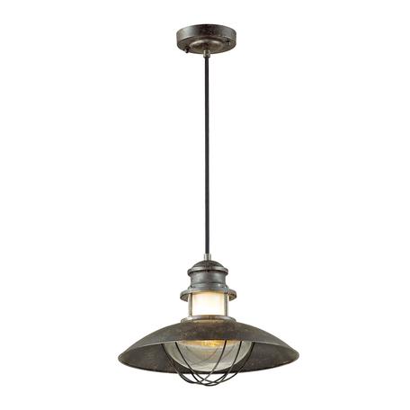 Подвесной светильник Odeon Light Dante 4164/1, IP23, 1xE27x60W, коричневый, металл, металл со стеклом