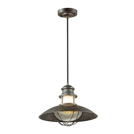 Подвесной светильник Odeon Light Nature Dante 4164/1, IP23, 1xE27x60W, коричневый, металл, металл со стеклом