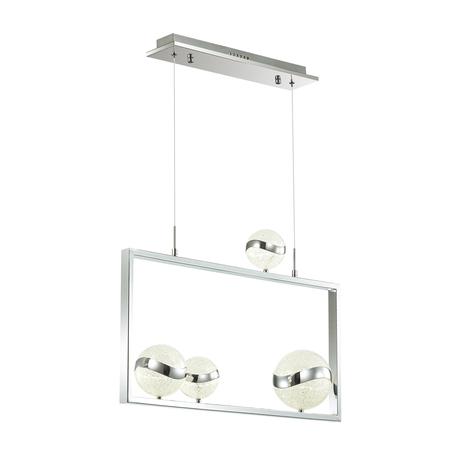 Подвесной светодиодный светильник Odeon Light Domus 4192/31L, LED 31W 4000K 2351lm, хром, металл, пластик