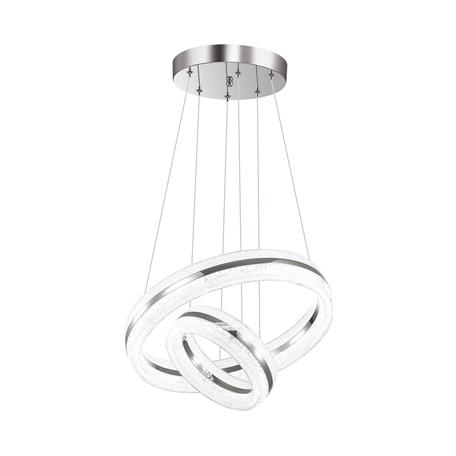 Подвесной светодиодный светильник Odeon Light Constance 4603/54LA, LED 54W 6300lm, хром, металл, пластик