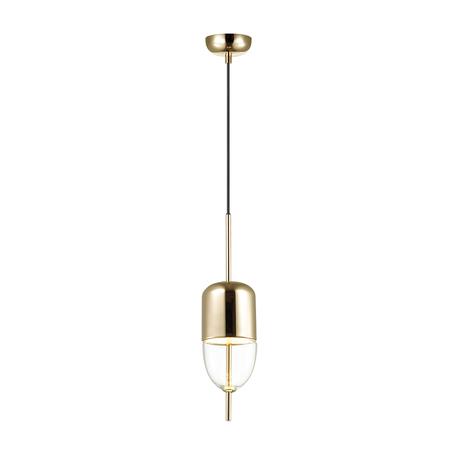 Подвесной светодиодный светильник Odeon Light Dune 4620/12L, LED 12W 3200K 771lm, золото, прозрачный, металл, металл со стеклом
