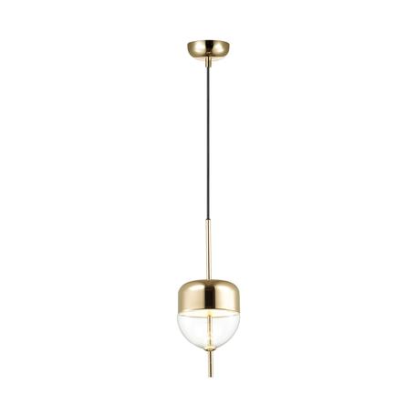 Подвесной светодиодный светильник Odeon Light L-Vision Larus 4622/12L, LED 12W 3200K 771lm, золото, прозрачный, металл, металл со стеклом