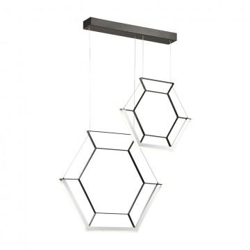 Подвесной светильник Odeon Light 4099/26L, черный, прозрачный, металл, пластик