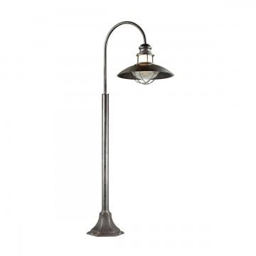 Уличный фонарь Odeon Light 4164/1F, IP44, коричневый, прозрачный, металл, стекло