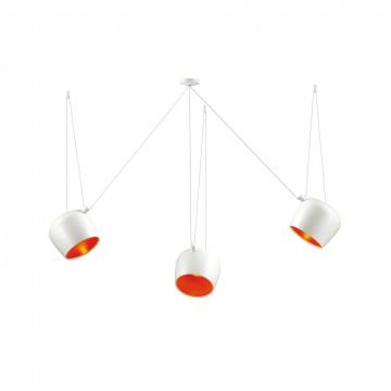 Люстра-паук Odeon Light 4103/3, белый, красный, металл