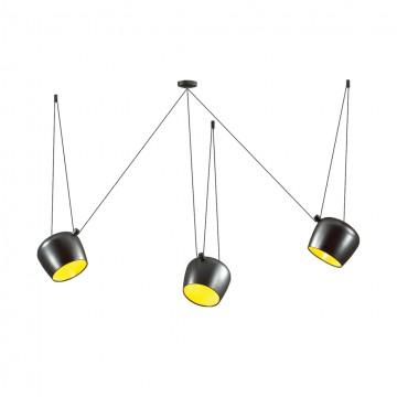 Люстра-паук Odeon Light 4104/3, черный, желтый, металл