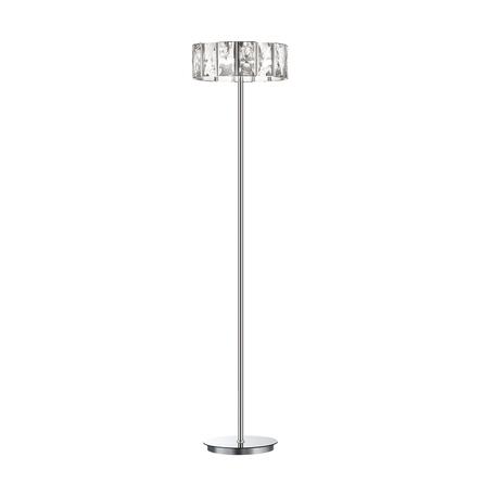 Торшер Odeon Light Brittani 4119/4F, 4xE14x40W, хром, прозрачный, металл, хрусталь