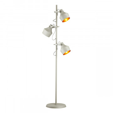 Торшер Odeon Light Osta 4083/3F, 3xE27x40W, серый, золото, металл