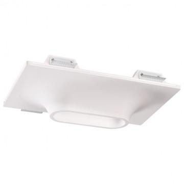 Встраиваемый светильник Novotech Spot Cail 370496, 2xGU10x50W, белый, под покраску, гипс