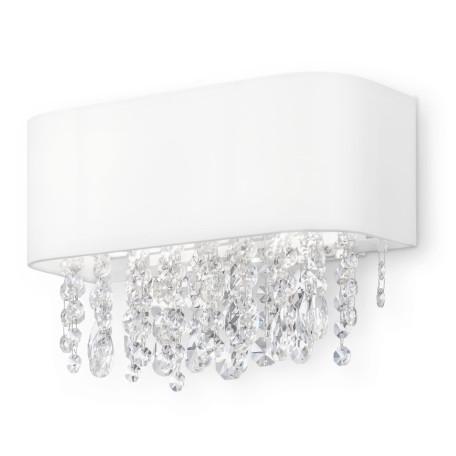 Бра Maytoni Manfred MOD600WL-02W, 2xE14x60W, белый, прозрачный, металл, текстиль