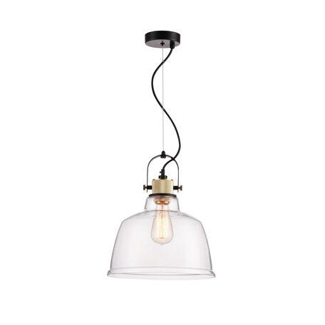 Подвесной светильник Maytoni Modern Irving T163PL-01W, 1xE27x40W, черный, прозрачный, металл, стекло