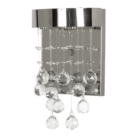 Бра Arti Lampadari Flusso H 2.18.615 N, 3xG9x40W, никель, прозрачный, металл, хрусталь
