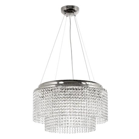 Подвесная люстра Arti Lampadari Milano E 1.5.D50.501 N, 8xG9x40W, никель, прозрачный, металл, хрусталь
