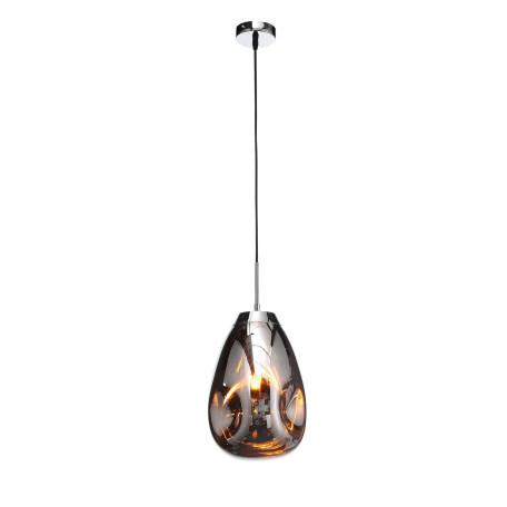 Подвесной светильник ST Luce Aereo SL328.103.01, 1xE27x60W, хром, янтарь, металл, стекло