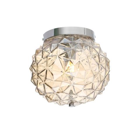 Потолочный светильник ST Luce Brill SL326.302.02, 2xE14x40W, хром, коньячный, металл, стекло