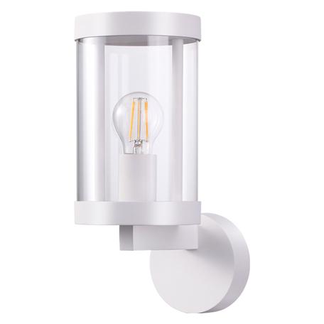 Настенный светильник Novotech Street Ivory 370603, IP44, 1xE27x13W, белый, прозрачный, металл, металл со стеклом