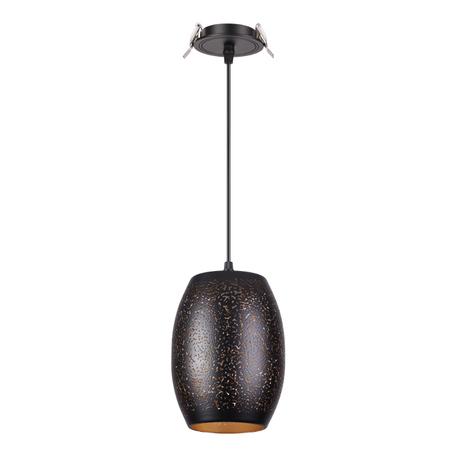 Встраиваемый подвесной светильник Novotech Spot Amapola 370636, 1xE27x50W, черный, металл