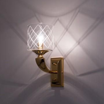 Бра Citilux Spirito Oro EL352W01.2, 1xE14x60W, золото, прозрачный, металл, стекло - миниатюра 2