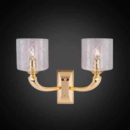 Бра Citilux Spirito Oro EL352W02.2, 2xE14x60W, золото, прозрачный, металл, стекло
