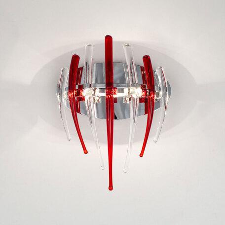 Настенный светильник Citilux Арго CL252331, 3xG4x20W, хром, красный, металл, стекло