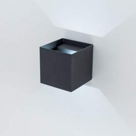 Настенный светодиодный светильник Citilux CLU0003, IP54, LED 6W 4000K 450lm, черный, металл