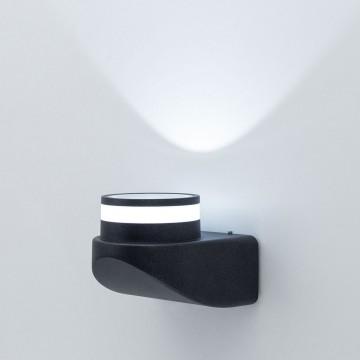 Настенный светодиодный светильник Citilux CLU0004, CLU0005 CLU0004, IP54, LED 8W 4000K 530lm, черный, металл - миниатюра 2