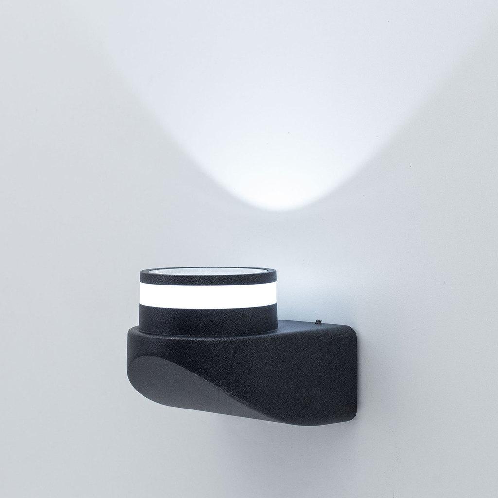 Настенный светодиодный светильник Citilux CLU0004, CLU0005 CLU0004, IP54, LED 8W 4000K 530lm, черный, металл - фото 2