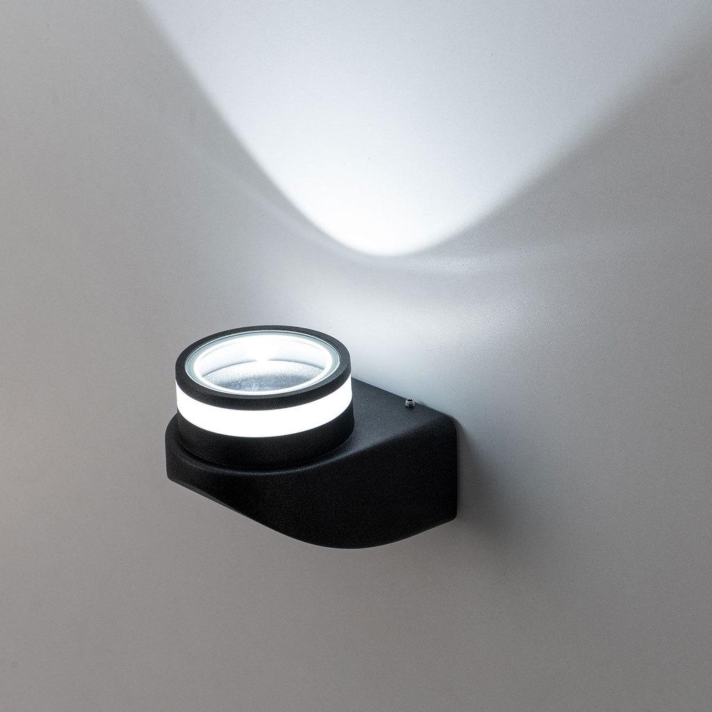 Настенный светодиодный светильник Citilux CLU0004, CLU0005 CLU0004, IP54, LED 8W 4000K 530lm, черный, металл - фото 4