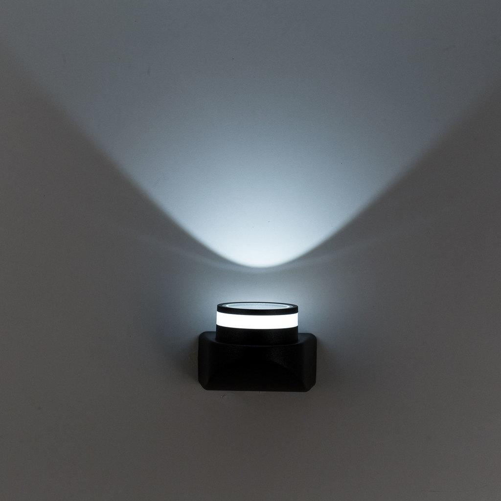 Настенный светодиодный светильник Citilux CLU0004, CLU0005 CLU0004, IP54, LED 8W 4000K 530lm, черный, металл - фото 5