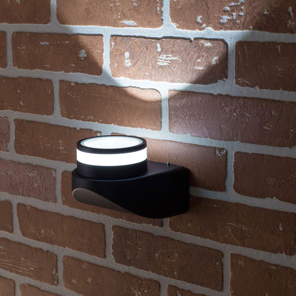 Настенный светодиодный светильник Citilux CLU0004, CLU0005 CLU0004, IP54, LED 8W 4000K 530lm, черный, металл - фото 7