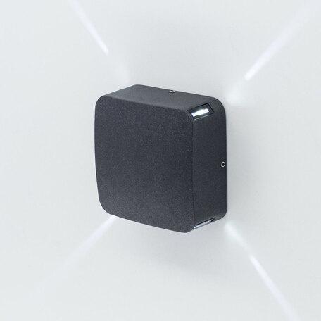 Настенный светодиодный светильник Citilux CLU0006X, IP54, LED 4W 4000K 265lm, черный, металл