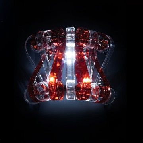 Бра Citilux Volution Rosso EL326W02.2, 2xG9x40W, хром, красный, прозрачный, металл, стекло