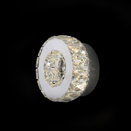 Светодиодное бра с пультом ДУ Citilux Olimpia EL330W12.1, LED 12W 3000-4500K 800lm, хром, металл, хрусталь