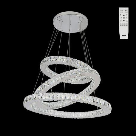 Подвесной светодиодный светильник с пультом ДУ Citilux Olimpia EL330P90.1, LED 90W 3000-4500K 7500lm, хром, металл, хрусталь