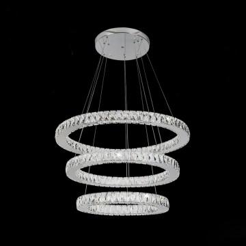 Подвесной светодиодный светильник с пультом ДУ Citilux Olimpia EL330P90.1, LED 90W 3000-4500K 7500lm, хром, металл, хрусталь - миниатюра 3