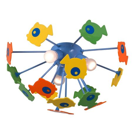 Потолочная люстра Citilux Рыбки 1300, 3xE14x60W, разноцветный, металл, пластик - миниатюра 1
