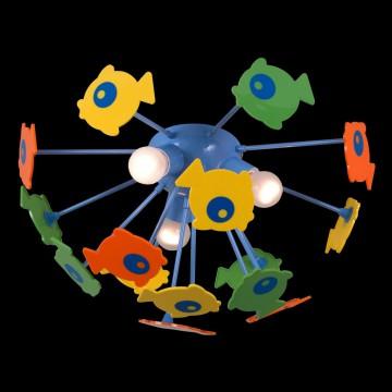 Потолочная люстра Citilux Рыбки 1300, 3xE14x60W, разноцветный, металл, пластик - миниатюра 2