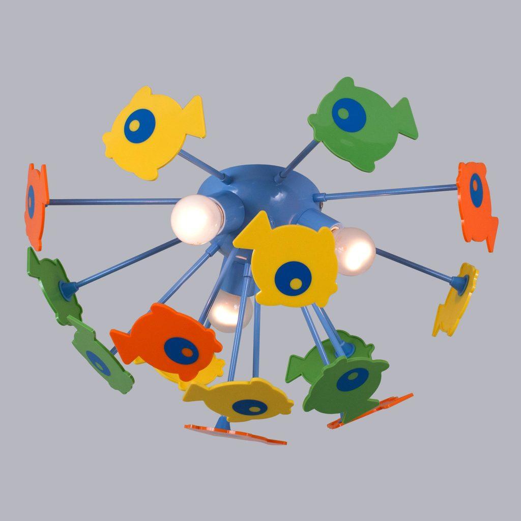Потолочная люстра Citilux Рыбки 1300, 3xE14x60W, разноцветный, металл, пластик - фото 3