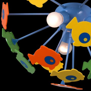 Потолочная люстра Citilux Рыбки 1300, 3xE14x60W, разноцветный, металл, пластик - миниатюра 4