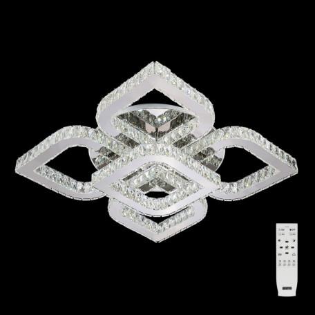 Потолочная светодиодная люстра с пультом ДУ Citilux Lavita EL331C100.1, LED 100W 3000-4500K 8000lm, хром, металл, хрусталь