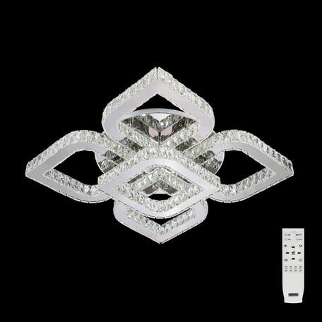 Потолочная светодиодная люстра с пультом ДУ Citilux Lavita EL331C120.1, LED 120W 3000-4500K 9000lm, хром, прозрачный, металл, металл с хрусталем