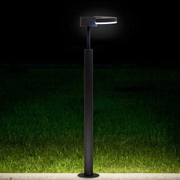 Садово-парковый светодиодный светильник с регулировкой направления света Citilux CLU03B1, IP54, LED 6W 4000K 450lm, черный, металл - миниатюра 3