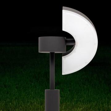 Садово-парковый светодиодный светильник с регулировкой направления света Citilux CLU03B1, IP54, LED 6W 4000K 450lm, черный, металл - миниатюра 4