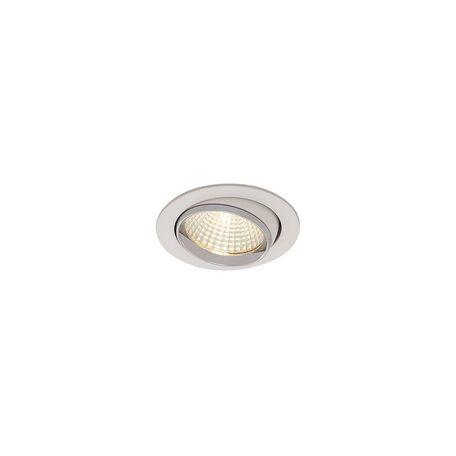Встраиваемый светодиодный светильник Citilux Бета CLD002W1, LED 7W 3000K 550lm, белый, хром, металл